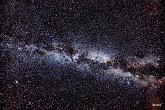 Milky Way Galaxy on a moonless night - tonight