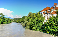 Am Lech mit Hochwasser. ©UdoSm