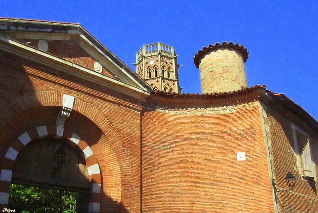 Clocher cathédrale de Rieux Volvestre- Hte Garonne