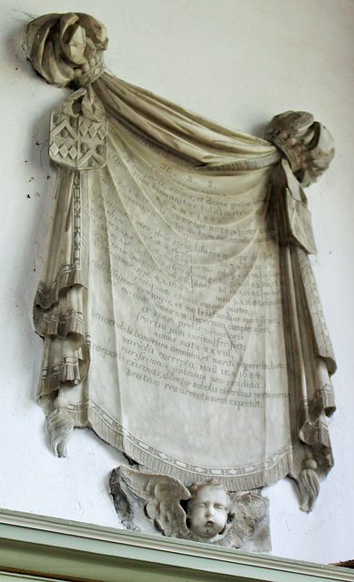 Memorial to Francis Grey, St James The Great, Gretton, Northamptonshire