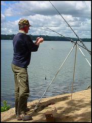 fisherman at Warleigh