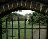 View through a garden gate