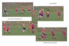 Nice pass by Eastbourne Good tackle by Seaford 16 10 2021