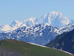 Vu du Col du Galibier, le Mont Blanc (France)