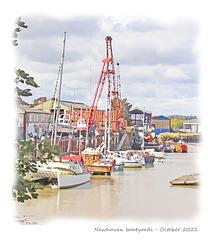 Boatyards opposite Denton Island - Newhaven - 5 10 2021 dry brush & edges