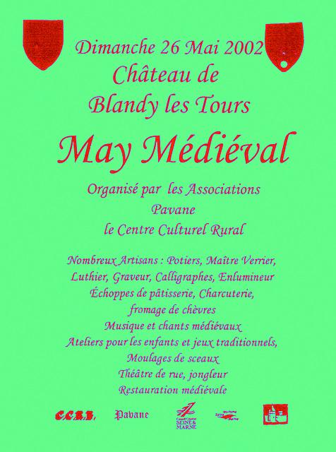May médiéval à Blandy-les-Tours le 26 mai 2002