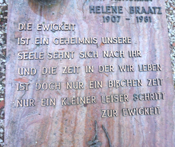 Die Ewigkeit - Grabinschrift - la eterneco - epigrafo