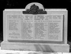 CAS - PARNALLs 1941 Memorial Yate
