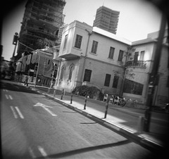 Tel Aviv from a taxi cab