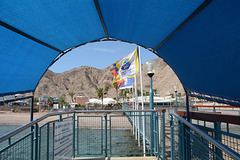 Israel, Eilat, Entrance to the Underwater Observatory
