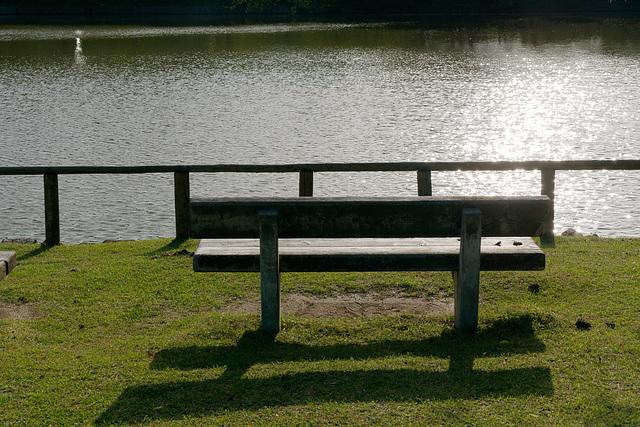 Un banc près du lac