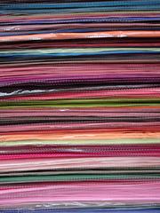 Stack of pashmina scarves