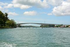 Guatemala, Bridge across Rio Dulce