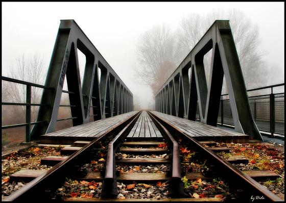 Eiserner Steg, Localbahn- und Fußgängerbrücke - Iron Bridge, local railroad and pedestrian bridge