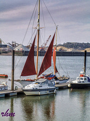 Boats moored on the Medway