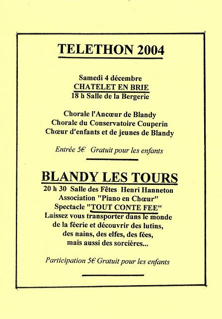 Concert au Châtelet-en-Brie le 04 décembre 2004