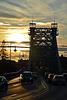 "Sonnenuntergang an der Brücke ""das blaue Wunder"" in Dresden"