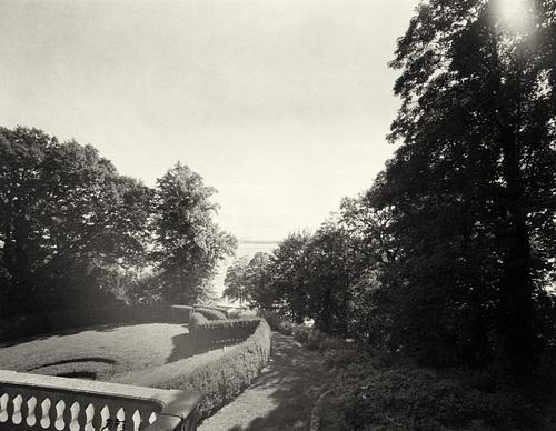 Römischer Garten -- 4x5 Großformat Papiernegativ -- park-27-08-17-0001b