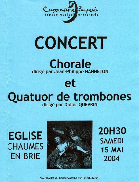 Concert à Chaumes-en-Brie le 15 mai 2004