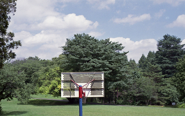 Basketball hoop pole