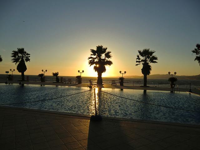 Sunset at San Leone, Sizilien, Italien