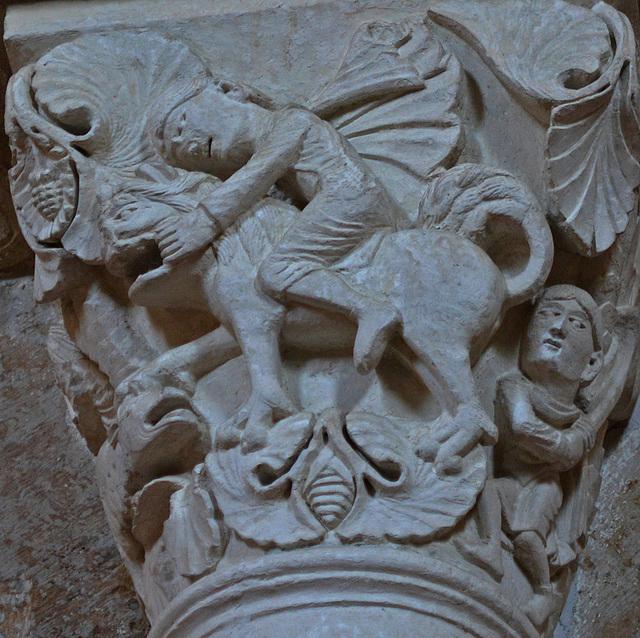 David et le lion.