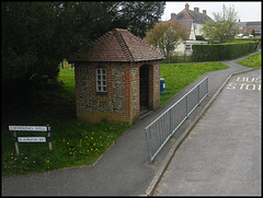 brick and flint bus shelter