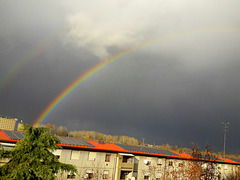Dopo la pioggia un magnifico arcobaleno