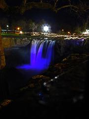 Noccalula Falls at Christmas