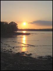 sunset at Tamerton Creek
