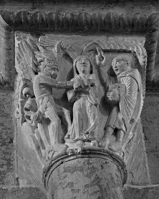 Tentation de Saint Benoît par une femme.