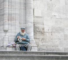 le gardien de la mosquée...Istambul