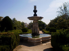 Fountain in the garden.