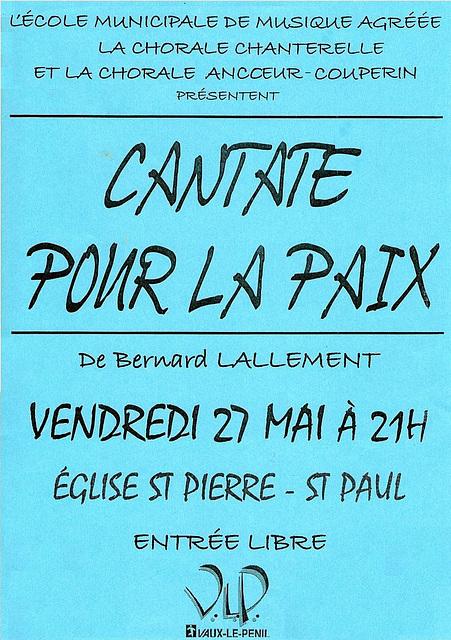 Cantate de la Paix à Vaux-le-Pénil le 27 mai 2005