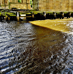 High Tide And Late Sun On A Fast Flowing Tyne, Newcastle
