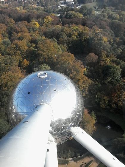 Atomium von oben