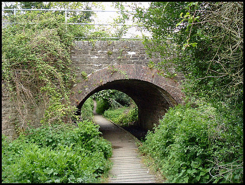 footpath under the railway
