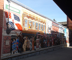 Wall artwork by the flag