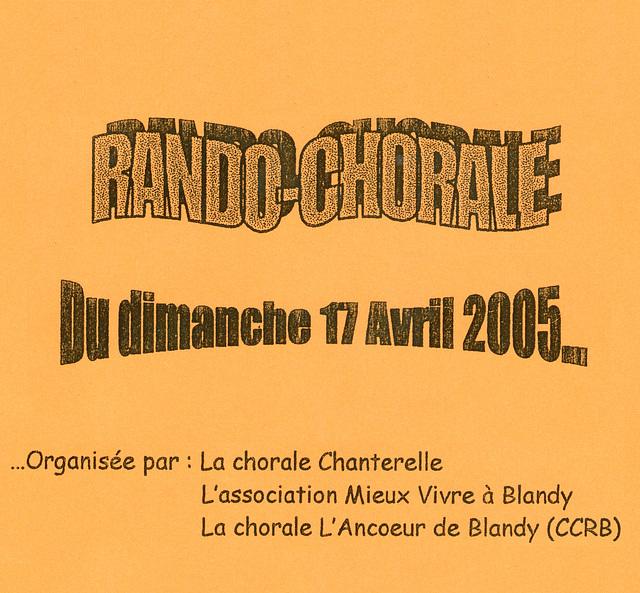 Rando-Choral à Blandy-les-Tours le 17 avril 2005