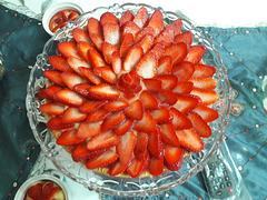 Tarte aux fraises faite maison