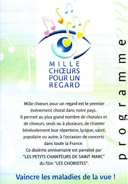 Mille choeurs à Livry-sur-Seine le 19 mars 2005