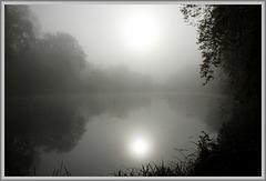 ce matin : deux soleils sur la forêt de compiegne !!!