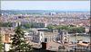 Lyon (69) 15 juin 2012. La ville vue depuis les Terrasses de l'Antiquaille.
