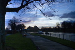 Dumbarton Quay and the River Leven at Dawn