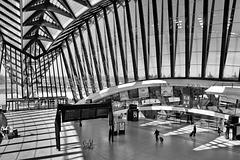 Lyon Saint-Exupéry (69) 8 avril 2015. Intérieur de la Gare.