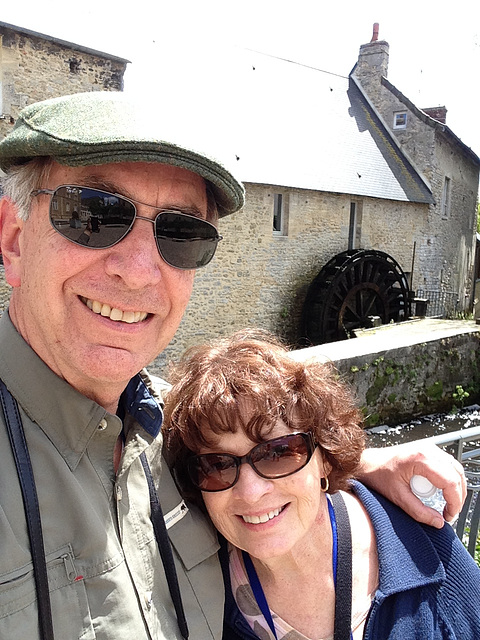 Normandy selfie down by the old mill stream, where I first met you. With your eyes so brown, I was new in town.