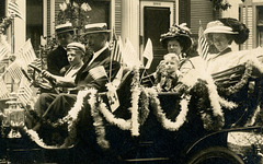 Decorated Car for the Floral-Flag Automobile Parade, Washington, D.C., July 5, 1909 (Cropped)