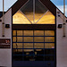 Lifeboat House Door at Sunset