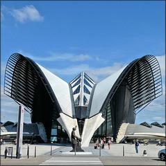Lyon Saint-Exupéry (69) 22 août 2019. La gare SNCF.