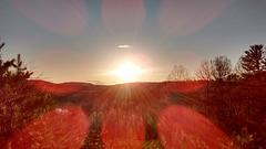 Coucher de soleil monastique / Tramonto